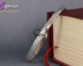 """Sale - Handcrafted Designer Hammered Solid Bangle Bracelet 925K Sterling Silver - Half Round, Domed, 5mm, 65mm (2,55"""") - Turkish Jewelry"""