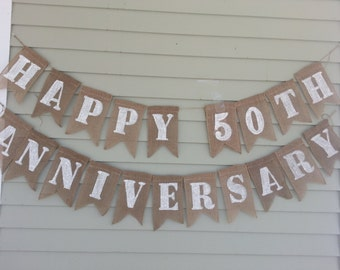 Happy 50th anniversary banner.