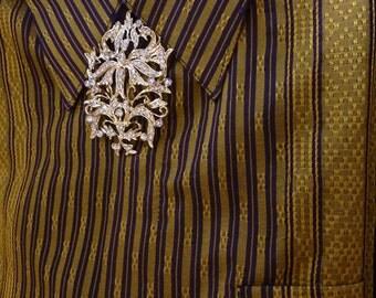 Peranakan Baba Brooch Vintage Style