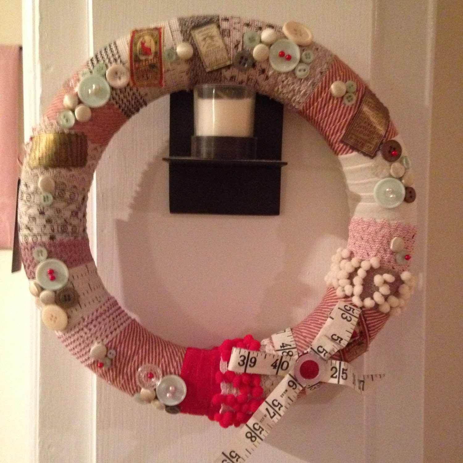 A Stitch in Time: Sewing-Themed Wreath