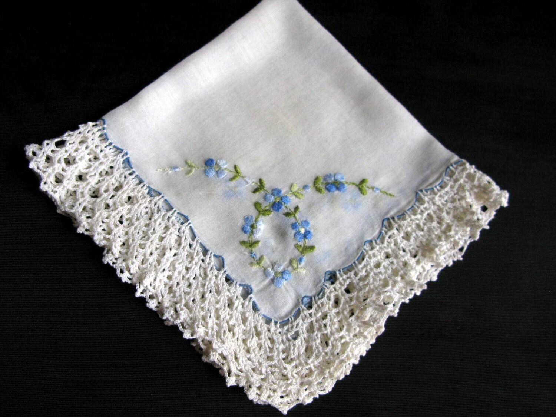 Bride Handkerchief Bridal Shower Gift Wedding By VintagebyTeresa