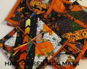MUG MATS  HALLOWEEN Quilted Pieced Patchwork Home Kitchen Décor Country