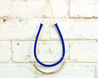 Stella Blue Rope Simple Necklace