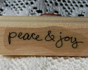 Peace and Joy Christmas Rubber Stamp from Stampin Up