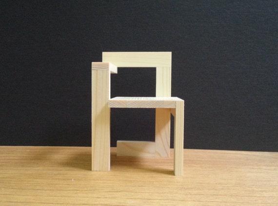 Gerrit rietveld steltman chair modello di mobili da for Sedia steltman