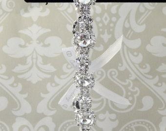 Wedding Garter - Luxe Sparkle: RHINESTONE Starburst with Ribbon