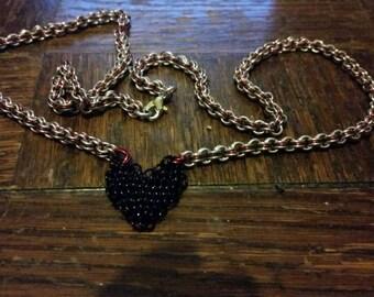 My Lil Black Heart Necklace