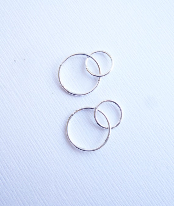 sterling silver two soldered rings connector by