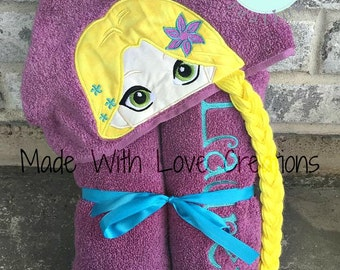 Princess Hooded Towels-Sophia The First Hooded Towel-Rapunzel Hooded Towel-Tinkerbell Hooded Towel-Character Hooded Towel-Birthday Gift