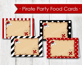 Pirate Food Cards - Instant Download
