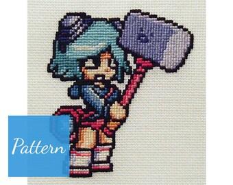 Ramona Flowers (Scott Pilgrim) Cross Stitch Pattern