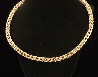 Copper viking weave necklace