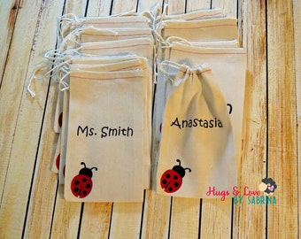 Custom Birthday Party - Wedding Favor bags with Name - One design - Custom Party Favor Bags - Custom gift bag