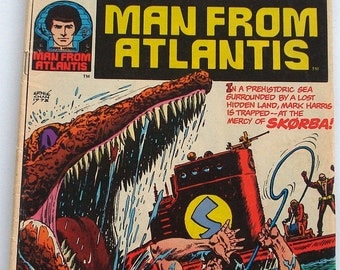 Man From Atlantis Comic Book  Marvel Group  No. 6,  1979