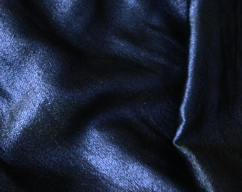 Lustrous Blue Steel Brocade - Fabric By The Yard