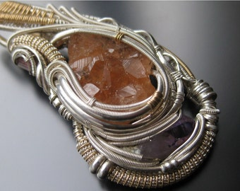 """Wire Wrapped Crystal Pendant // """"In Motion"""" // """"Seeking Flow"""" Series"""