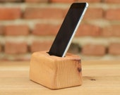 Handcrafted iPhone 6 Dock Wooden iPhone Holder iPhone Docking station Recycled wood iPhone 6 stand
