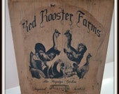 Primitive Rooster Hen Sign, Rooster Farmhouse Sign Handmade