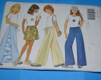 Butterick 5964 Girls Skirt Pants & Top Sewing Pattern - UNCUT - Size 12 14 16