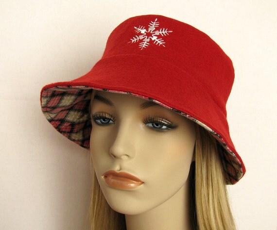 womens fleece winter hat wide brim lined by