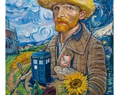Vincent Van Who? (Doctor Who & Van Gogh, limited edition print)