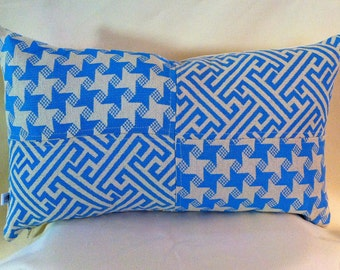 Custom Single Unique Kidney Pillow Cover on Designer Fabric-Choose Color-Free Shipping