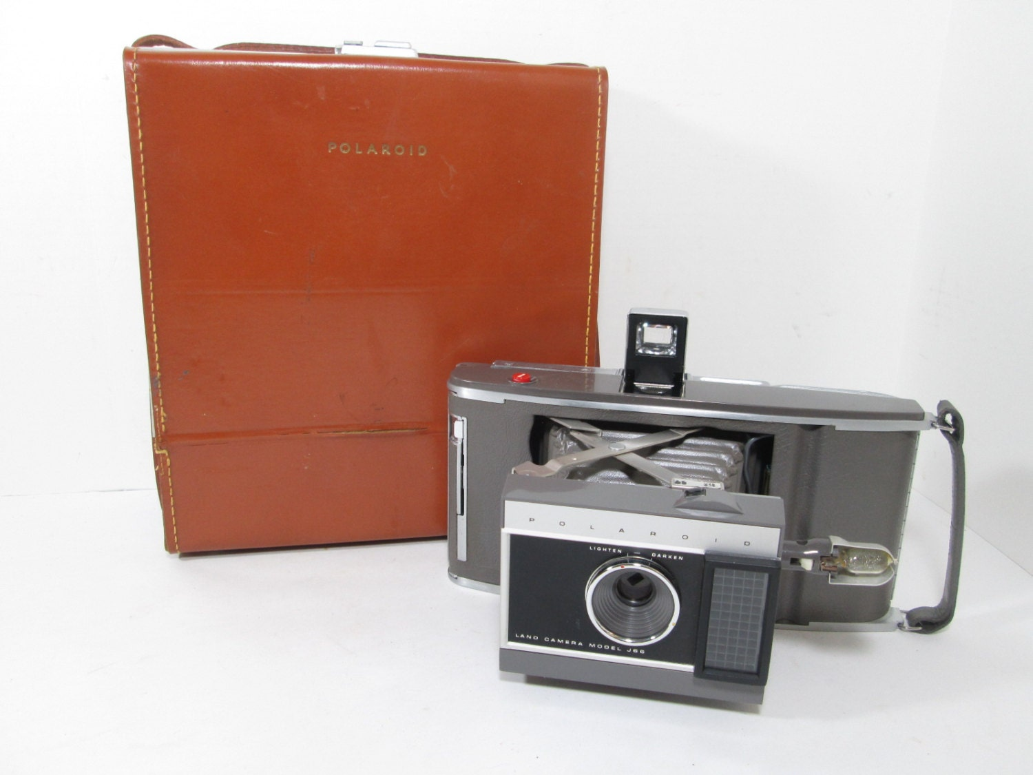 Vintage Polaroid Land Camera Model J66 With Case by ...