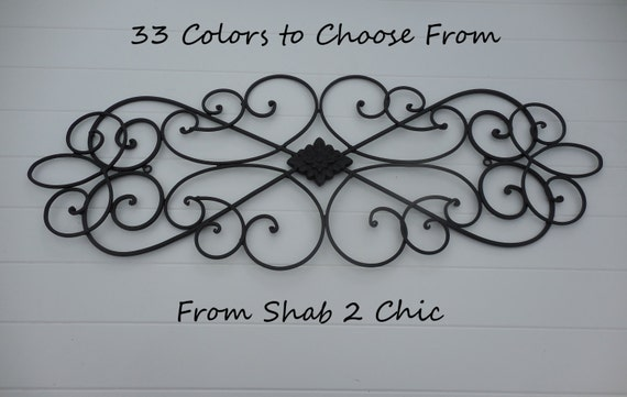BLACK / Wrought Iron Decor / Shabby Chic / Wall Decor