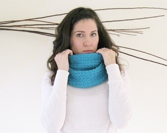Knit Neck Warmer | Crochet Circle Scarf | The Soho Infinity Scarf | Winter Loop Scarf