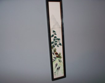 Vintage Chinese Framed Tile Handpainted Painting China