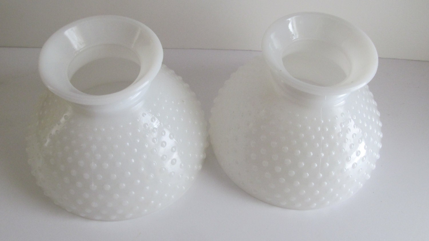 one large milk glass lamp shade hobnail lamp globe ring