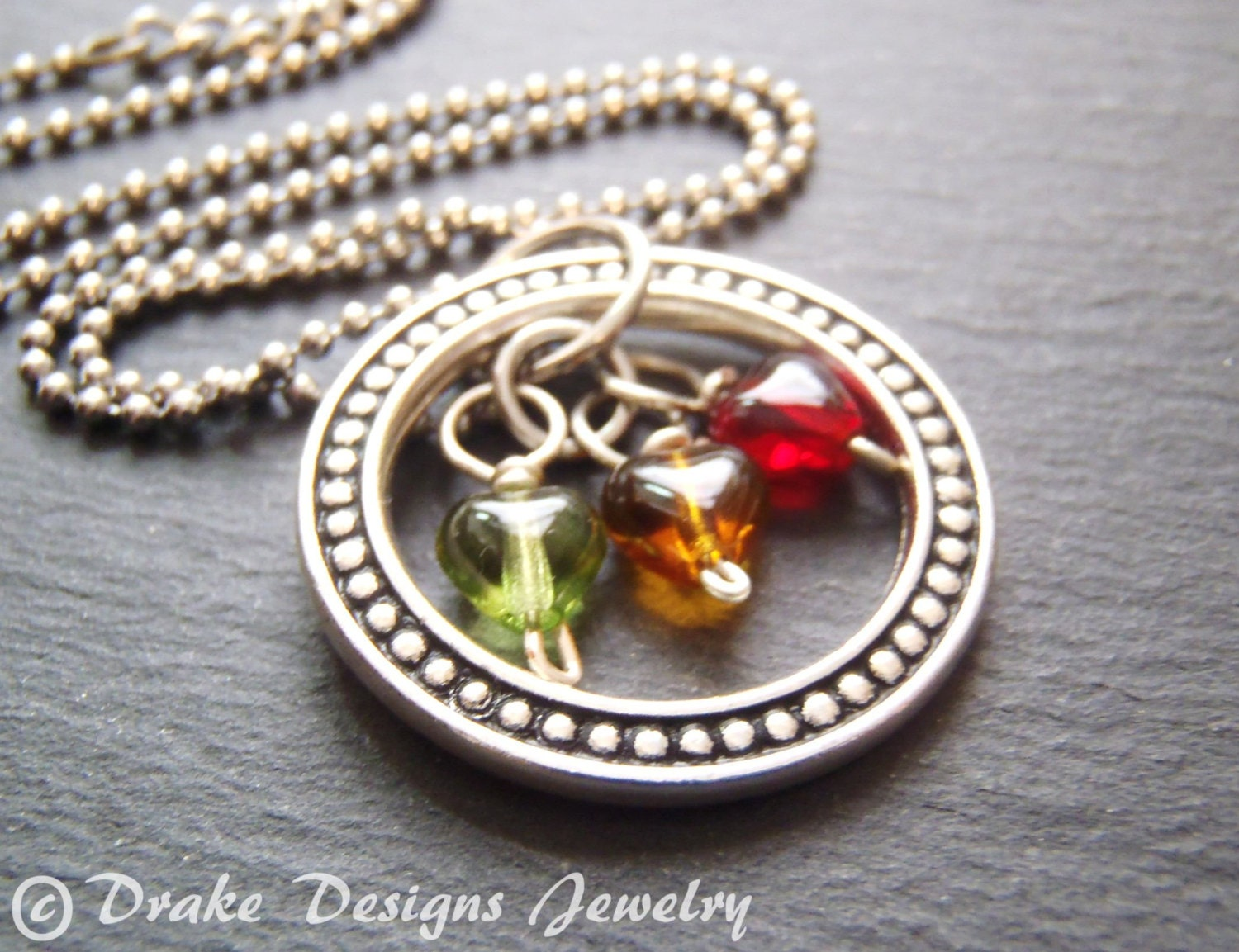 eternity circle mothers birthstone necklace for mom gifts. Black Bedroom Furniture Sets. Home Design Ideas