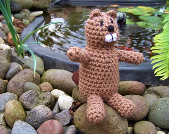 Beaver Crocheted Stuffed Animal Toy