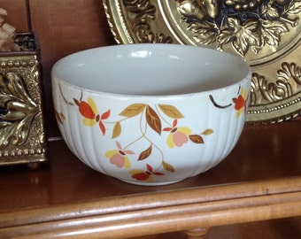 Jewel Tea small mixing bowl Hall's Superior Quality Kitchenware pottery crockery prairie farmhouse cottage chic kitchen serving home decor