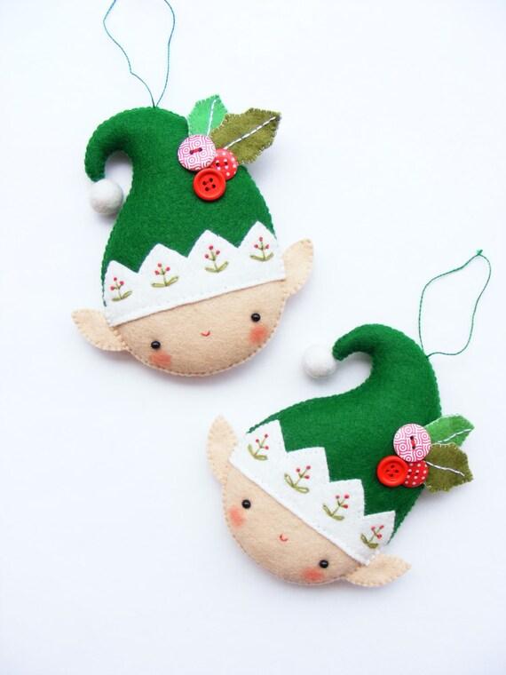 Pdf Pattern Christmas Elf Felt Christmas Ornament