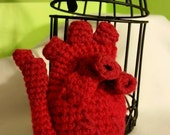 SALE Caged Human Heart - Actual Item - Ready to Ship! Crocheted Plush