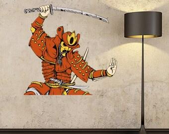 Samurai Decal Etsy