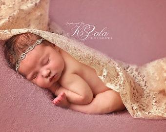 Newborn Baby Headband Rhinestone Headband Baby Headband Newborn Baby Photography Prop Newborn Photo Prop Headband Baby Picture Prop Headband