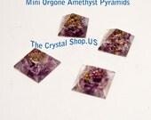 Orgone Amethyst Pyramid Minis