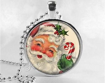 SANTA CLAUS Necklace,VIntage Christmas, Santa, Santa Claus, Christmas Necklace, Christmas Jewelry, Vintage Christmas, Retro Christmas,Kitsch