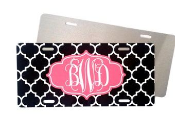 Front Car Plate - Quatrefoil & Moroccan Prints • Create Your Own Design