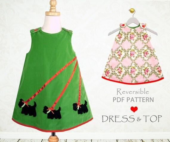 Girls dress pattern pdf, Childrens sewing pattern, girls pattern, girls dress sewing pattern, beginner easy pattern, toddler pattern SCOTTIE