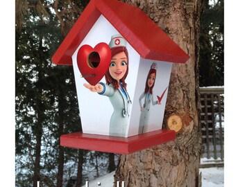 Nurse Theme Birdhouse