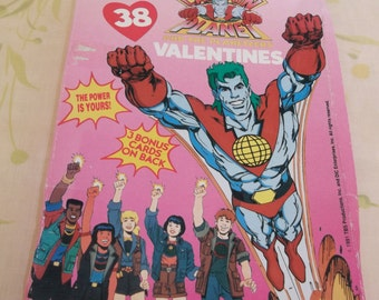 Captain Planet Valentines Boxed 1991 Unopened