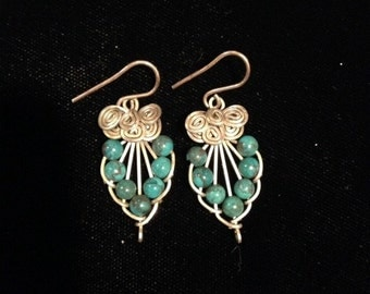 Wire & Turquoise Earrings
