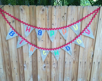Burlap Birthday Banner