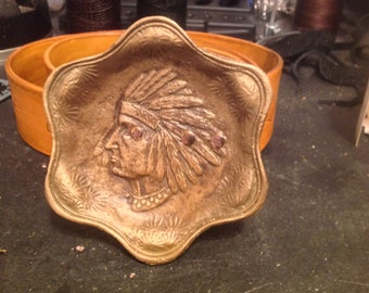 "POW WOW Buckle With Matching 2 inch Belt,  Fits Up To 42"" waist. Free Shipping."