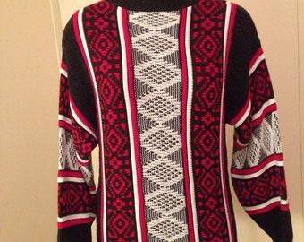 Vintage ski sweater M