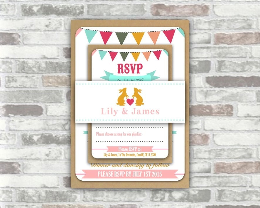 Printing Your Own Wedding Invitations: Print Your Own Personalised Printable WEDDING INVITATION