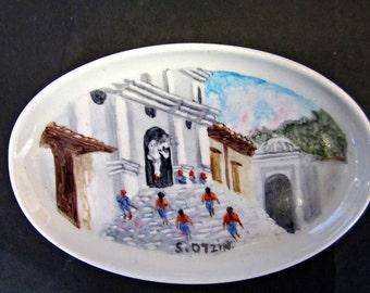 Hand Painted Ceramic Jewelry Dish